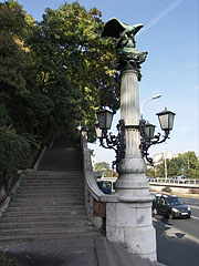 The stairs from Elizabeth Bridge up to the Gellért Hill - Budapešť, Maďarsko