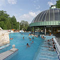 Hot water entertainment pool for the adults in the Thermal Bath of Eger, which was opened in 1932 on 5 hectares of land - Eger, Maďarsko