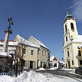 Main square of Szentendre in wintertime - Szentendre, Maďarsko