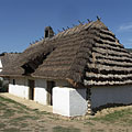 The early-19th-century-built dwelling house from Filkeháza - Szentendre, Maďarsko