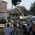 Bustle of the fair in the square in front of the Granary - Szentendre, Maďarsko