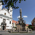 Piarist Church of Saint Ann and the Holy Trinity column - Vác, Maďarsko