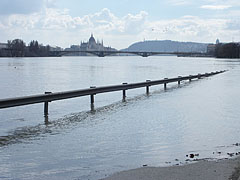 River flood on the Buda quay - Budapeşte, Macaristan
