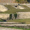 Military amphitheater of Aquincum, the ruins of the ancient Roman theater - Budapeşte, Macaristan