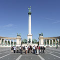 The Millennium Memorial (also known as the Millenial Monument) - Budapeşte, Macaristan