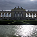 The Gloriette and a small pond in front it - Viena, Austria