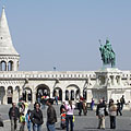 "The neo-romanesque style Fisherman's Bastion (""Halászbástya"") - Budapest, Hungría"
