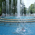 "The new Musical Fountain (in Hungarian ""Zenélő Szökőkút"") - Budapest, Hungría"