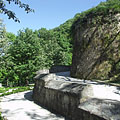 Terrace of Sculpture, the stone retaining walls from some angles seems to be castle walls - Lillafüred, Hungría
