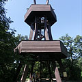 "The wood-made Lookout tower on the ""Elm forest glade"" (Szilfa-tisztás) - Budakeszi, Ungheria"