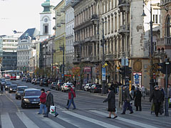 The houses of the Small Boulevard on the Ferencváros side - Budapest, Ungheria
