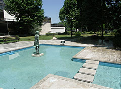 Fountain pools in the Stefánia Park - Budapeszt, Węgry