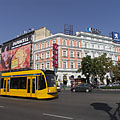"The Grand Boulevard (""Nagykörút"") with a yellow tram 4-6 - Budapeszt, Węgry"