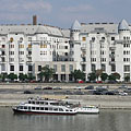 "The Art Nouveau (secession) style ""Palatinus"" apartment buildings on the Danube bank at Újlipótváros neighborhood - Budapeszt, Węgry"