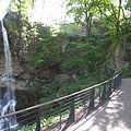 The Waterfall Terrace with the Great Szinva Waterfall - Lillafüred, Węgry
