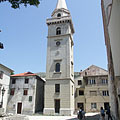 The separated bell tower (belfry) of the Virgin Mary Cathedral - Senj, Хърватия