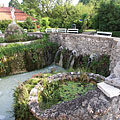 Thermal Bath of Eger, the unique hydro-massage pool, that is recessed below the ground level - Eger (Эгер), Венгрия