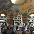 The interior of the monumental merry-go-round, that won the prestigious Europa Nostra architectural award as well - Budapest, Ungarn