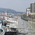 The Duna Korzó promenade and the riverside in the downtown - Budapest, Ungarn