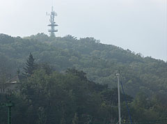 The Sipos Hill Lookout Tower from the harbour - Fonyód, Ungarn