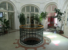 The Art Nouveau (secession) style entrance hall of the former Municipal Bath (today Bath and Wellness House of Szerencs) - Szerencs, Ungarn