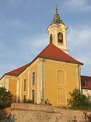 Holy Cross Franciscan Monastery and Church with the detail of the castle wall remains - Vác (Waitzen), Ungarn