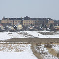 The Szerb Antal Secondary School in Cinkota, as well as the meadow near the Szilas Stream - Budapest, Ungarn