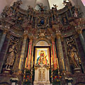 Wood-carved baroque main altar - Márianosztra, Ungarn