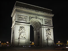 "Arc de Triomphe de l'Étoile (""Triumphal Arch of the Star"") - Paris, Frankrike"