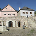 A moody terraced plaza, typical in the Upland market towns - Szentendre, Ungarn