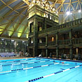 The indoor swimming pool under the big dome - Boedapest, Hongarije