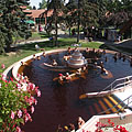 """The outdoor """"Octopus"""" (or """"Polip"""") pool with medicinal thermal water - Gyula, Hongarije"""