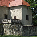 The castle and the detail of the castle wall - Szerencs, Hongarije