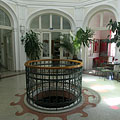 The Art Nouveau (secession) style entrance hall of the former Municipal Bath (today Bath and Wellness House of Szerencs) - Szerencs, Hongarije