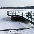 Lake Naplás in winter (the lake was formed artificially by damming up the Szilas Stream) - Budapest, Ungari