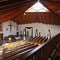 The interior of the upper church, viewed from the choir loft - Szerencs, Ungari