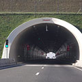 "The entrance of the 418-meter-long fourth tunnel (""Véménd"" tunnel or Tunnel ""D"") bejárata - Szekszárd, Ungarn"