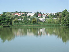 The artificially created boating lake - Ajka, Hungary