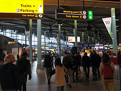 The transit hall of the airport - Amsterdam, Netherlands