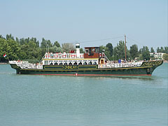 The authentically reconstructed Jókai pleasure-boat - Balatonfüred, Hungary