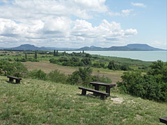 "The panorama of the surroundings from the ""Szépkilátó"" lookout point and rest area - Balatongyörök, Hungary"