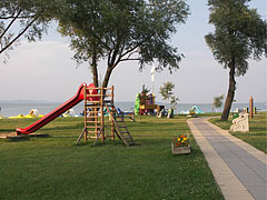 A slide for the kids on the beach - Balatonlelle, Hungary