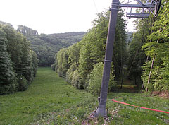 Ski slope with a sky lift in springtime - Bánkút, Hungary