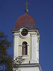 The steeple of the Roman Catholic church - Barcs, Hungary