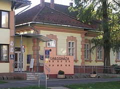 Entrance of the Town Hall of Barcs - Barcs, Hungary