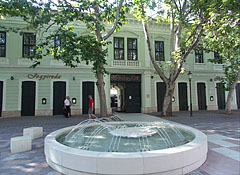 The Ibsen House with a fountain in front of it - Békéscsaba, Hungary