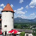 The tower of the Bled Castle - Bled, Slovenia