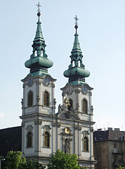 Saint Anne's Roman Catholic Church (Szent Anna templom) on the Batthyány Square - Budapest, Hungary