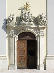 The main door of the Inner City Parish Church - Budapest, Hungary
