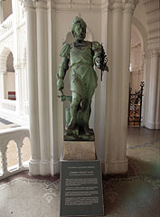 Statue of a medieval blacksmith in the lobby of the museum - Budapest, Hungary